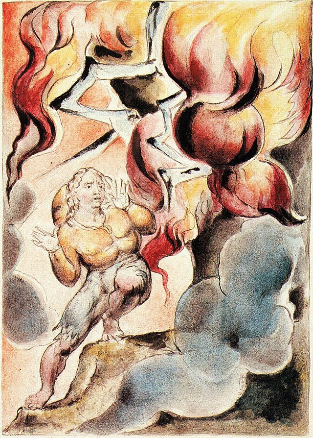 William_Blake_-_John_Bunyan_Plate_8_Christian_Fears_the_Fire_from_the_Mountain.jpg